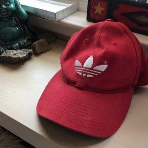 Red adidas strapback
